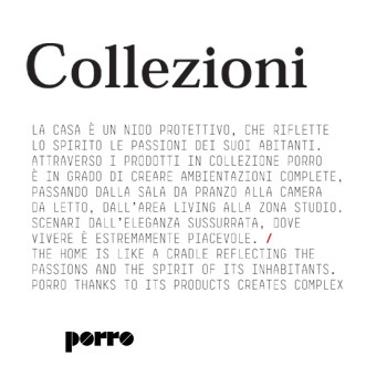 Porro - Release Collezioni 2013