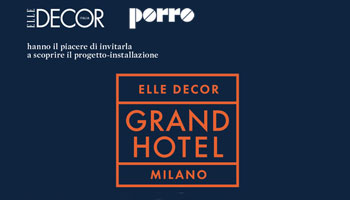Porro - Porro all'interno dell'Hotel Particulier di Piero Lissoni - Invito