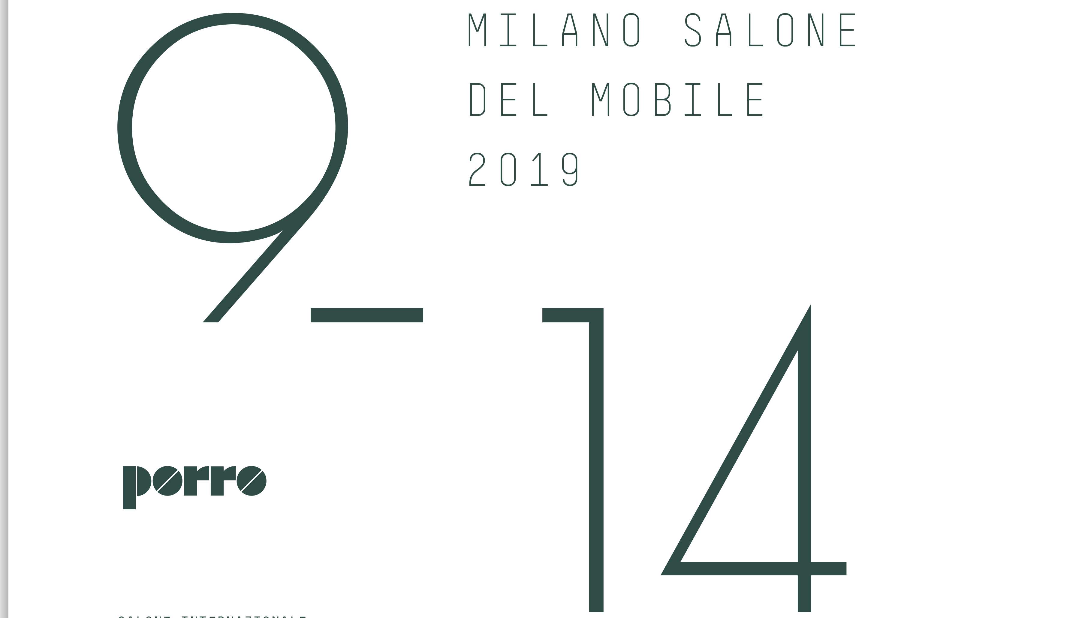 Porro - PORRO - INVITATION OF SALONE DEL MOBILE 2019