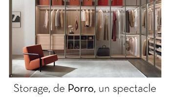 Porro - L'armadio Storage su Ideat Francia: uno spettacolo su misura