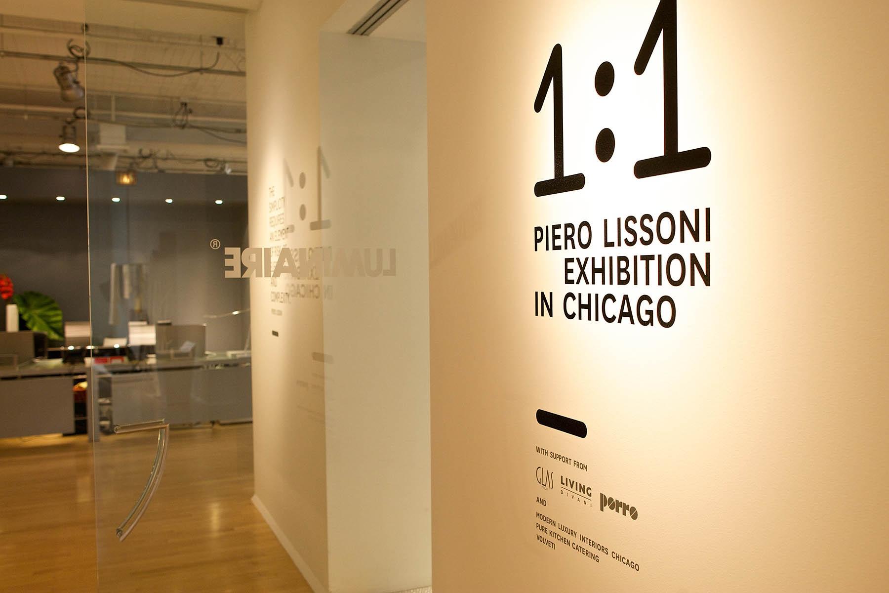 Porro, image:news_immagini - Porro Spa - Mostra 1:1 PIERO LISSONI a Chicago