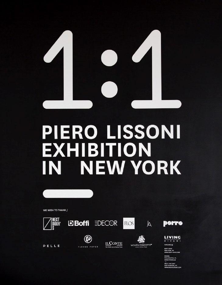 Porro, image:news_immagini - Porro Spa - Porro promuove la tappa a New York della mostra 1:1 Piero Lissoni