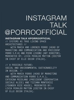 Porro, image:news_immagini - Porro Spa - 28.09-10.10.2020<br />MILANO DESIGN CITY<br /> <br /><br />