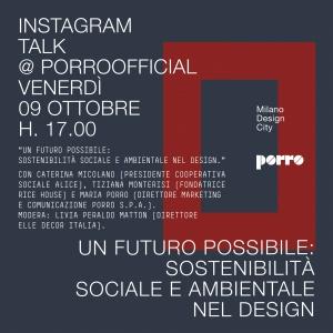 Porro, image:news_immagini - Porro Spa - INSTAGRAM TALK @ PORROOFFICIAL
