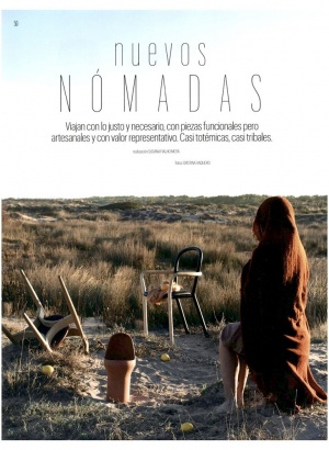 """Porro, image:news_immagini - Porro Spa - Gentle chair in the """"Nuevos Nomades"""" story of AD Spain"""