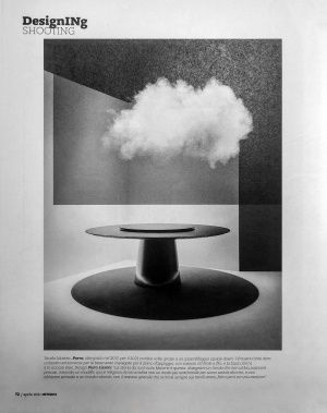 Porro, image:news_immagini - Porro Spa - Materic table on Interni magazine, April 2021